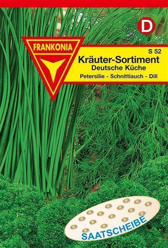 Kräuter Sortiment Saatscheibe Deutsche Küche Saatgut Samen Frankonia S 52